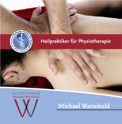 Heilpraktiker für Physiotherapie Flyer – Michael Warmbold